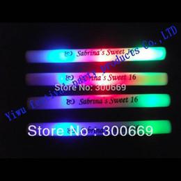 Conduit mousse bâton clignotant à vendre-100pcs / 1 lot Livraison gratuite coloré Led Foam bâton logo personnalisé disponible Clignotant Glow Sticks Prix de gros en événement 160908 #