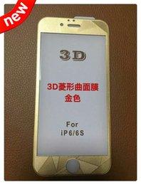 Iphone vidrio de alta calidad en Línea-La alta cobertura de la alta calidad 3D curvó el borde de cristal templado EDGE del diamante del protector de la pantalla para Iphone 6S 6 más 4.7 paquete de la venta al por menor de la piel de 5.5 pulgadas