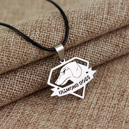 Wholesale Metal Gear Solid Pendant Necklaces Diamond Dogs Stainless Steel European Charms Necklaces Hot Sale Game Jewelry For Men Accessories