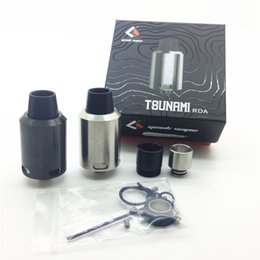 Wholesale GeekVape Tsunami RDA Clone Atomizer With Velocity style Deck Adjustable Kennedy style Airflow Various Drip Tip Rebuildable Dripping Atomizer