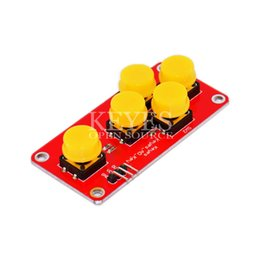 Wholesale AD Keyboard Simulate Five Key Module Analog Button for Arduino Sensor Expansion Board