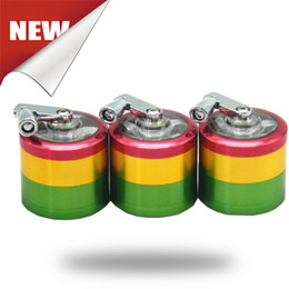Rainbow Grinders Machines 4 Parts 50mm Grinder Zinc Alloy Material Grinder Tobacco Herb Spice Crusher Free Shipping