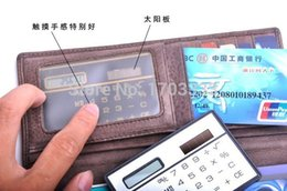 Wholesale Solar Powered Thin Pocket Doulex Esigh Card Calculator Solar Pocket Calculator DR15