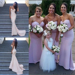 Custom Made 2016 Cheap Pink Mermaid Bridesmaid Dresses Satin Sweetheart Party Evening Dresses Gowns Long Maid of Honor Prom Dresses