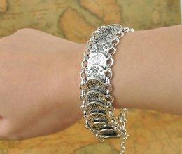 bracelet mix Gypsy Bohemian Jewelry Antique Silver Coin Bracelet for Women coins dollar bracelet mix bracelet basketball