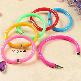 Korea 20pcs Novelty Cute tide Ballpoint Pen Bracelet Pen Novelty Pens Writing Pens Creative Stationery School supplies Free Shipping