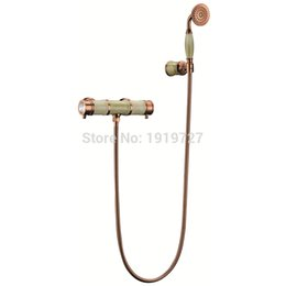 Wholesale 2016 Direct Brass Luxury Classic Marble Bath Rose Gold Chrome In Wall Mounted Bathroom Bathtub Shower Faucet