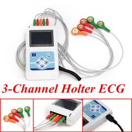Wholesale 3 Channel Holter Recorder Analyzer ECG Holter System monitor EKG ECG machine