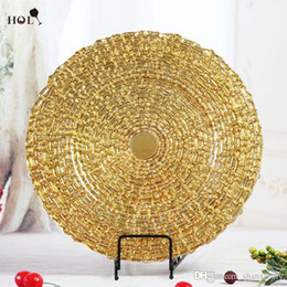 Wholesale Hot Sale Dinner Plate Antique Eco Friendly Wedding Gold Charger Plates