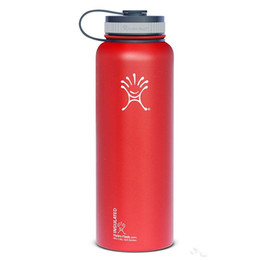 Wholesale 40oz Black red Hydro Flask Cups Insulated Stainless Steel Hydro Flask Water Bottle Wide Mouth Water Bottle Durable hydro flask mugs