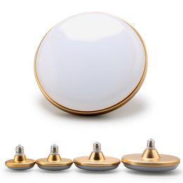 Free Shipping Waterproof E27 LED Bulb 12W 18W 24W 36W LED UFO golden AC220V LED180-degree lighting white