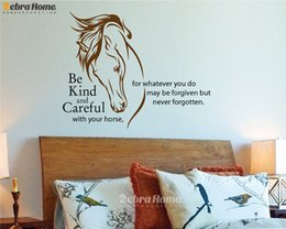 Wholesale DIY Horse Head Add English Word Letter Wall Decal Stickers For Living Room Home Decor Art Mural Wallpaper For Bedroom