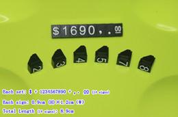 Wholesale Dollar Pentagon Price Tag Dollar Price Display set slot