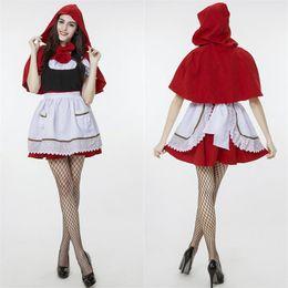 Descuento película al rojo vivo Venta caliente clásica película Caperucita Roja cosplay demostración de la etapa Juego de Roles el sistema del partido de Halloween Disfraces Ropa de mujer