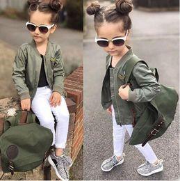 Wholesale 2016 Fashion European Boutique Girl Boys Baseball Uniform Jackets Winter Coats Jackets Kids Coats Winter Outwear Baby Clothes Jacket Coat