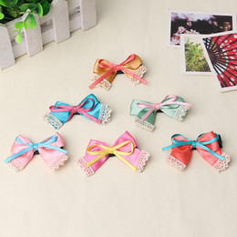 Pet Children hair bow ribbon material small wholesale Dog hair clip pet hairpin Dog accessories 50pcs