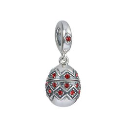 Wholesale Easter Egg Charm Floating Locket can Adjust Beads S925 Sterling Silver fit Pandora European Style Necklace Bracelet S402H8