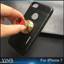 Wholesale Motomo Car Armor Series TPU PC Metal Integrally Phone Case Hard Back Cover Brush Cases For iPhone work for Vehicle mounted Magnet Holder