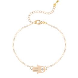 Wholesale 10pcs Luck Evil Eye Infinity Hamsa Bracelets Symbol Fatima Hand Pendant Minimalist Fashion Jewelry Gift for Girls and Women