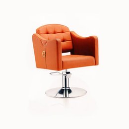 Wholesale Hairdressing chair salon styling chair high quality salon styling orange chair hair cut chair barber chair round back