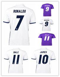 Wholesale Thailand Quality La Liga League Madrid Soccer Uniform Football Jerseys Modric Ramos Ronaldo Kroos James Bale Benzema