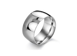 Hot Selling Stainless Steel Silver Fashion Simple Wide Finger Rings For Men Fashion Mens Jewelry Wedding Band New 2016