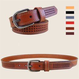 Wholesale Genuine Leather Belts for Womens Needle Buckle Thread Dress Belts Women Apparel Accessories High Quality Six Colors CH600005