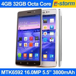"""Nouveaux écrans de téléphone en Ligne-Nouveau Lenovo Octa Core Téléphone 4 Go 32 Go Android 5.0 MTK6592 2.0GHz 16MP Caméra 5.5 """"1920x1080 FHD Écran LTE Celular téléphones mobiles Clone copie"""