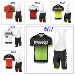 Wholesale 2017 Scott Tour De France Cycling Jerseys Short Sleeves High Quality Bike Wear Quick Dry Compressed Bike Wear Size XS XL Bicycle Clothing