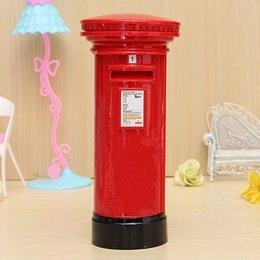 Wholesale Romantic Design High Quality Retro British London Letter Post Box Piggy Bank Money Box For Saving Coins Cash Fit For Collection