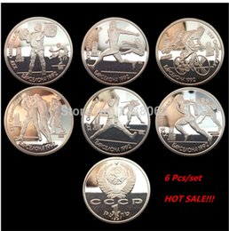 Wholesale Newest Design The Russia Ruble Barcelona Olympic games silver plated souvenir coin gift