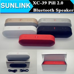 Wholesale Pill Plus Mini Wireless Bluetooth Speaker Portable Dual Horns Super Bass Hifi Music Player Box Subwoofer support TF Card FM USB Line In