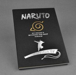 Gros-2016 Nouvelle Papeterie créative Anime NoteBook Naruto Notebook Remarque Pocket-book journal Collection Cosplay Carnet de Voyage 210 à partir de fabricateur