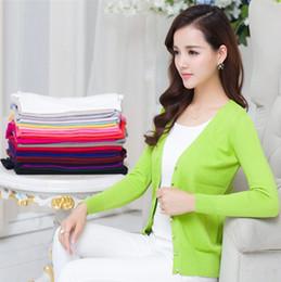 Descuento camisa de potencia 2016 Las ventas del resorte forman los colores largos del diseño 24 del flujo de energía de la alta calidad de las mujeres de la rebeca de las lanas de la cachemira de la manga Envío libre