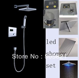 auto thermostat control led shower set brass 8 inches auto digital thermostat control led shower set 160313#