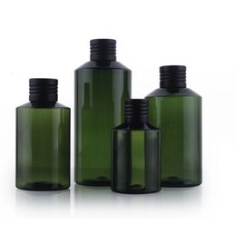 Wholesale 50ml ml ml ml PET packaging bottle with aluminium oxide cap dark green color high quality bottle