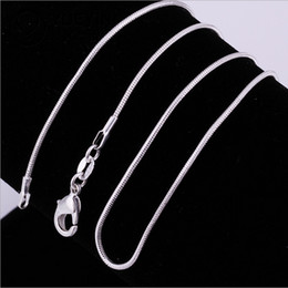 Wholesale Big Promotions High quality MM inches sterling silver snake chain necklace fashion jewelry