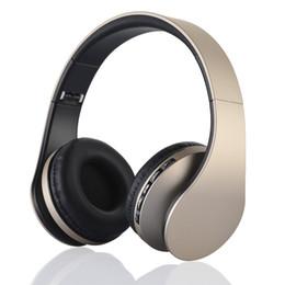 Hot Sale HiFi Deep Bass Wireless Stereo Bluetooth V3.0 EDR Headphone Headset with Mic Support TF Card FM Radio MP3 Player