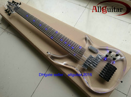 2016 New 7 strings BASS Acrylic Body 7 String Electric Bass Guitar 24 Frets China Bass transparent acrylic Body & Head LED light Real photo