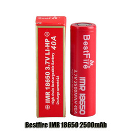 Wholesale Bestfire IMR mAh V A LI HP High Drain Rechargeable Battery for thread Box Mod