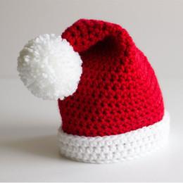 Novelty Santa Elf Hat,Handmade Knit Crochet Baby Boy Girl Christmas Pom Pom Hat,Toddler Winter Hat,Infant Photography Props