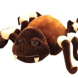 Свободный материал собаки для продажи-Большой яркий паук игрушки куклы плюшевые чучело собаки подарка игрушки для продажи Бесплатная Доставка