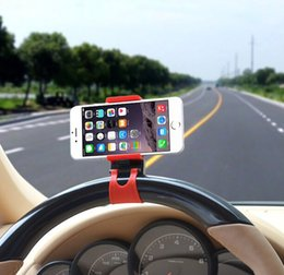 Acheter en ligne Volant pour les vélos-Universal Car Streeling Volant Holder Cradle Smart Clip Car Bike Mount pour iPhone mobile samsung GPS Cell Phone + boîte détail