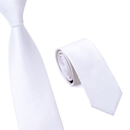 White Colors Slim Norrow Tie For Men,6cm Casual Arrow Skinny Woven Necktie, Fashion Man Accessories Gravata E-008
