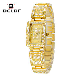 9164 Chinese Brand Women Watches Luxury Alloy Rectangel Decorative Pattern Dial Design BELBI AAA Wristwatches Top Quality