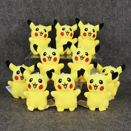 Wholesale Anime Cartoon Poke Pikachu Plush Toys Dolls with Ring Soft Stuffed Dolls cm