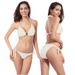 2016 Sexy Women Bikinis Set Push Up Bathing Suit Fashion Pleats Padded Chica Brasileiro Swim Beachwear Wholesale