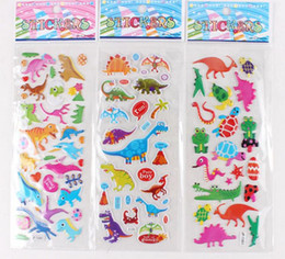 Wholesale funny toys Set C Mixed Kids Cute D cartoon Stickers Children Puffy Decoration Stickers Kids DIY Toy Kids rewards