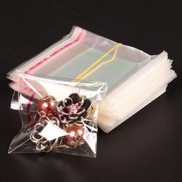 Pequeñas bolsas de plástico adhesivo transparente en Línea-El envío libre, 500pcs / lot, Claro Mini bolsas pequeñas de plástico para la joyería 6 * 8cm bolsa de auto-adhesivo del sello de OPP Paquete