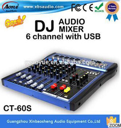 Wholesale CT S USB dj mixer professional amplifier mixer channel audio mixer karaoke mixer KTV reverberation mixing console mesa dj
